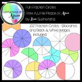 Fun Fraction Circles Clip Art