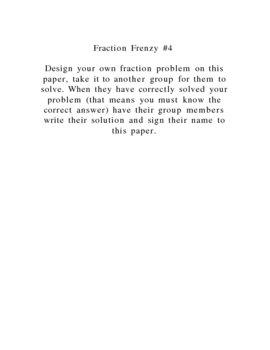 Fun Fraction Frenzy