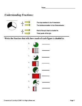 Fun Fraction Printables