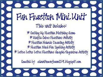 Fun Fraction Unit (Common Core Aligned)