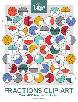 Fun Fractions Circle Clipart