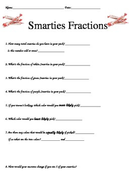 Fun Fractions with Smarties Candy Rolls