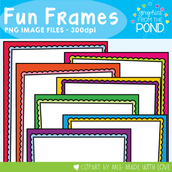 01f4c1418c5a ... Fun Frames - 28 Bright and Colorful Scalloped Pages