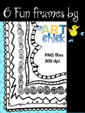 Fun Frames - 6 borders by The Art Chick