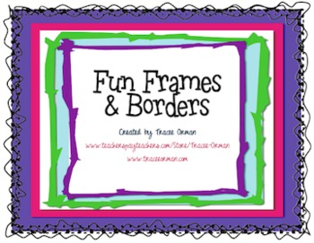 fun frames borders clip art for commercial use by tracee orman rh teacherspayteachers com clipart frames and borders free clip art frames and borders free vintage