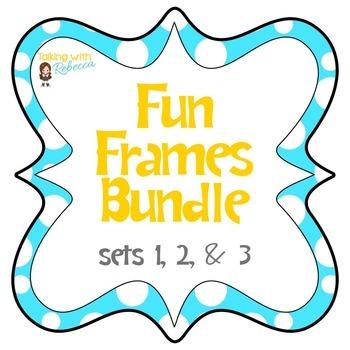 Fun Frames Bundle by Talking with Rebecca | Teachers Pay Teachers