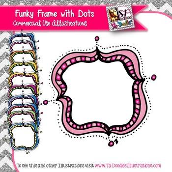 Fun Frames with dots Clip Art