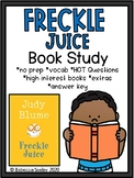 Fun Freckle Juice Book Study