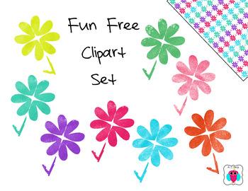Fun Free Clip Art Flower Set