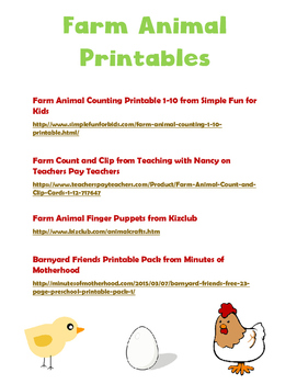 Fun Free Printables for Preschool--Animals, Insects, Butterflies