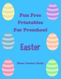 Fun Free Printables for Preschool  Easter