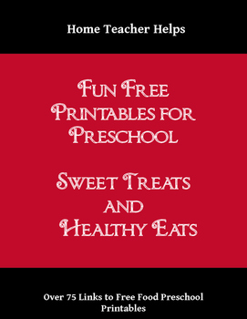 Fun Free Printables for Preschool Food--Sweet Treats and Healthy Eating