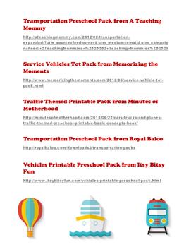 Fun Free Printables for Preschool Transportation