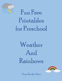 Fun Free Printables for Preschool Weather and Rainbows