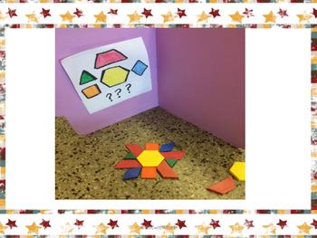 Math Center Freebie- 3D Shape Mystery Patterns to Reinforce Geometry Skills