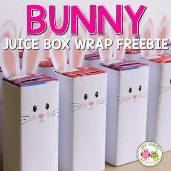 Easter Bunny Free Juice Box Wrap
