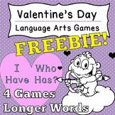 [Fun Freebie] Language Arts Valentine's Day Game I Have Who Has Grade 6+
