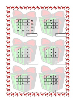 Fun Freebie Magic Squares-Building Fluency in Addition Grades 3-4