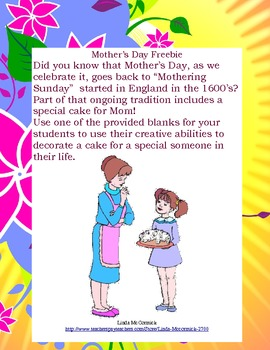 Fun Freebie for Mother's Day