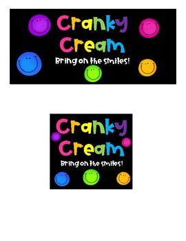 Fun Freebies- Cranky Cream and Timmy the Tattling Turtle signs
