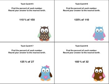 Fun Freebies- Grade 6-Percent and Rounding-CCSS.6.RP.A.3.C