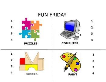 Fun Friday Clip Chart