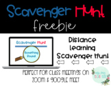 Digital Learning Scavenger Hunt Freebie
