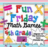 4th Grade Math Games Fun Friday Math Centers Bundle