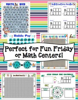 Fun Friday Math Games Mega Bundle (3rd Grade)