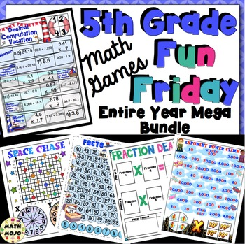 Fun Friday Math Games: Mega Bundle (5th Grade)