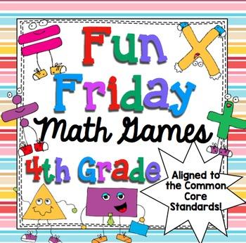 Fun Friday Math Games Mega Bundle (4th Grade)