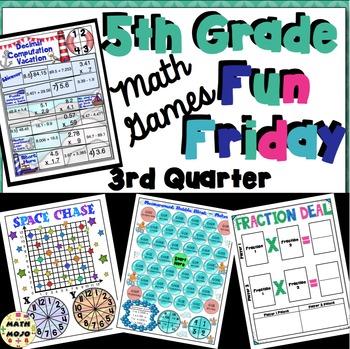 Fun Friday Math Games: Quarter 3 (5th Grade)