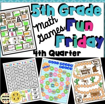 Fun Friday Math Games: Quarter 4 (5th Grade)