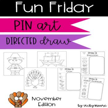 Fun Friday pin art and directed draws