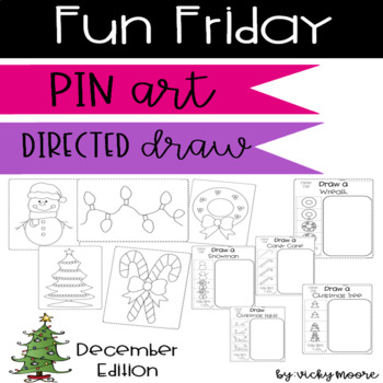 Fun Friday pin art and directed draws