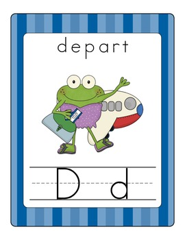 Fun Frog Alphabet Line (Traditional Print)- Blue