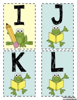 Fun Frog Themed Word Wall