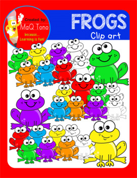 Fun Frogs Cliparts