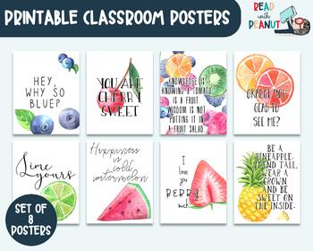 Fun Fruit Bulletin Board Classroom Decor Humorous Quotes Tp0022