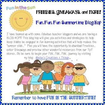 Fun Fun Fun Summer Time Blog Hop Freebies!!!
