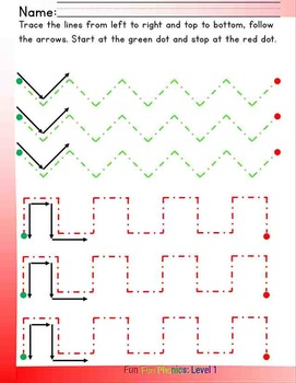 #1 Fun Fun Phonics (11 line tracing pages)