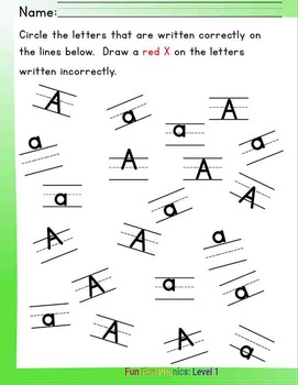 #3 Fun Fun Phonics (28 pages) (Letters Aa, Bb, and Digraphs 'ab' and 'ba')