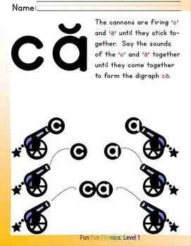 #4 Fun Fun Phonics (20 pages Cc, Aa, ca, ac)