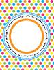 Fun, Funky Bright Polka Dots, Zebra, Chevron Editable Binder Covers