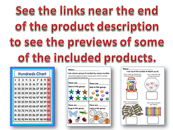 Kindergarten Math Bundle - Counting & Cardinality
