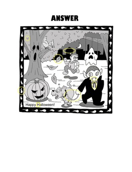 Fun Game (Ice Breaker): What's Different? (Halloween Game)