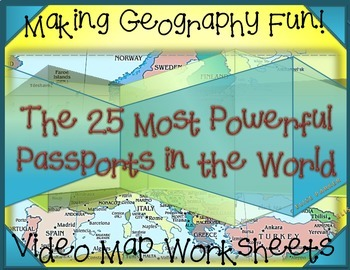 Fun Geography Activities: Geography Video Worksheets: Passports!
