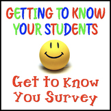 Fun Get to Know You Survey and Group Activity!