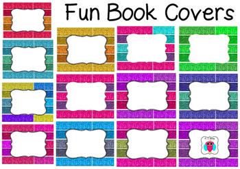 Fun Glitter Book Covers