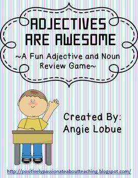 Adjective/Noun Review Game: Fun Grammar Review